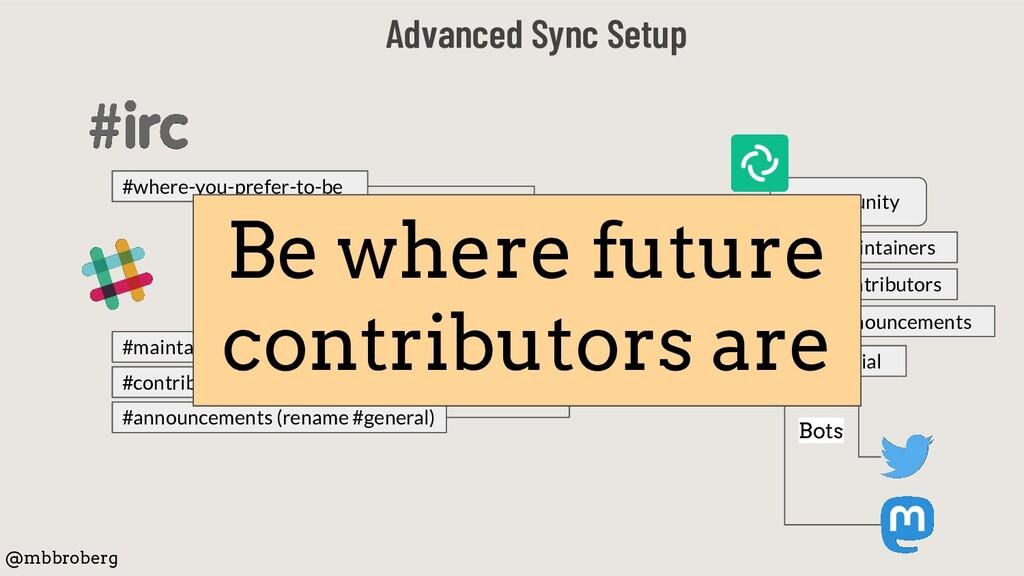 Advanced Sync Setup @mbbroberg Community #contr...