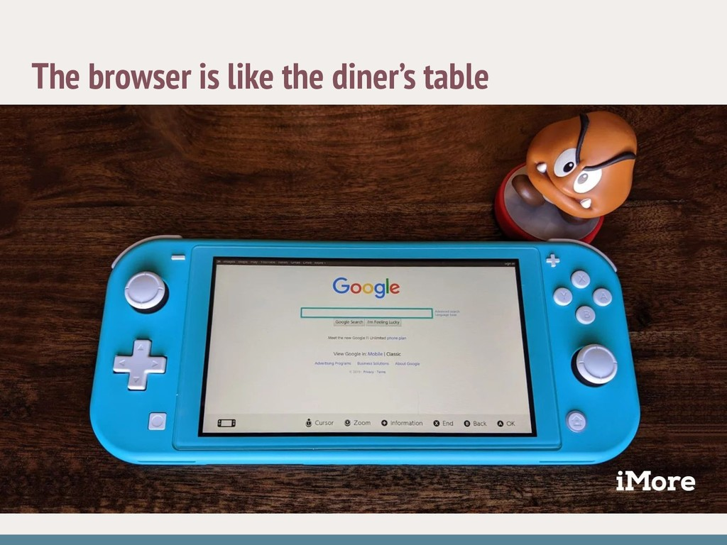 The browser is like the diner's table