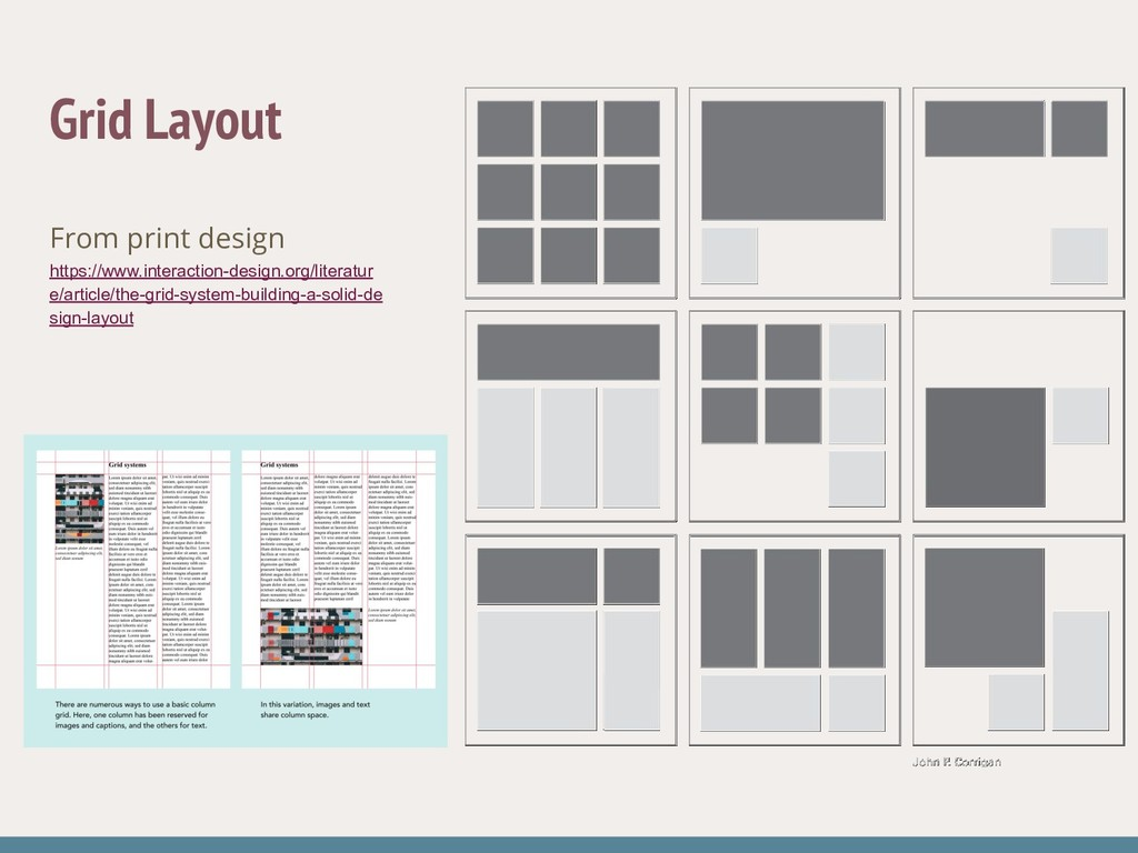 Grid Layout From print design https://www.inter...