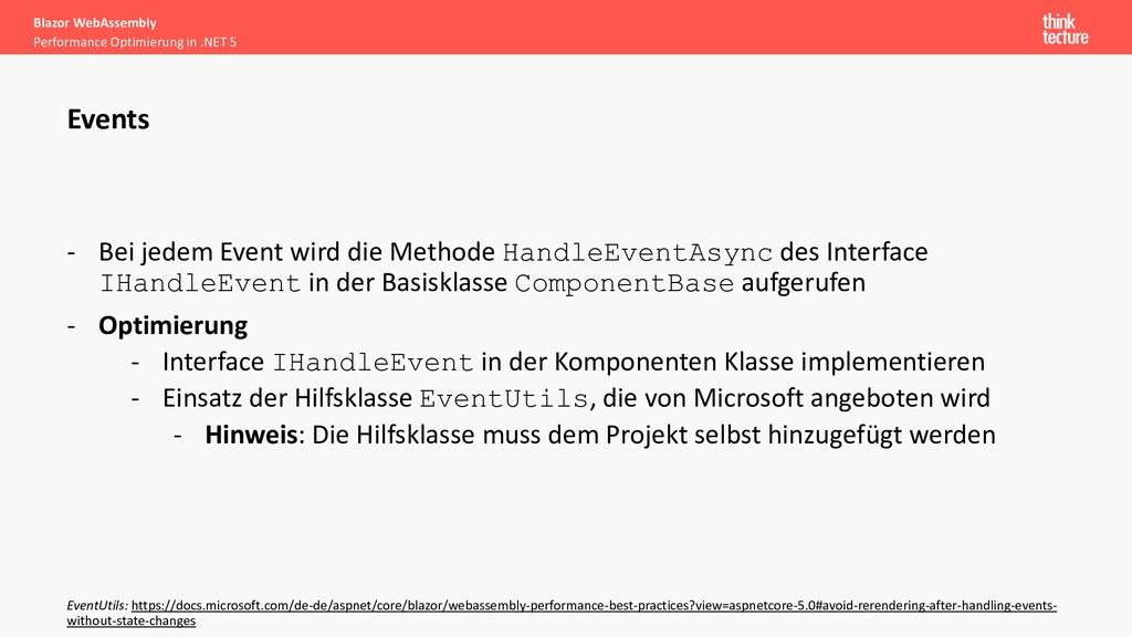 - Bei jedem Event wird die Methode HandleEventA...