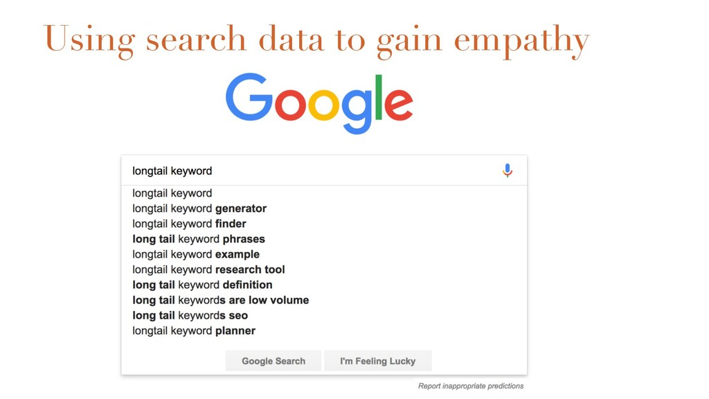 Using search data to gain empathy
