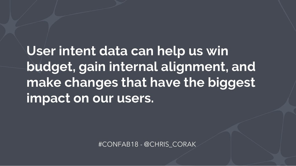 User intent data can help us win budget, gain i...