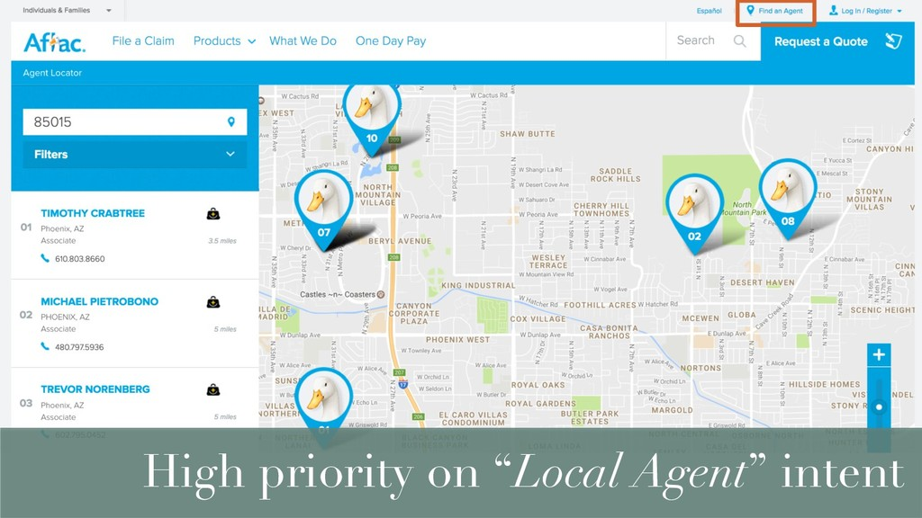 "High priority on ""Local Agent"" intent"