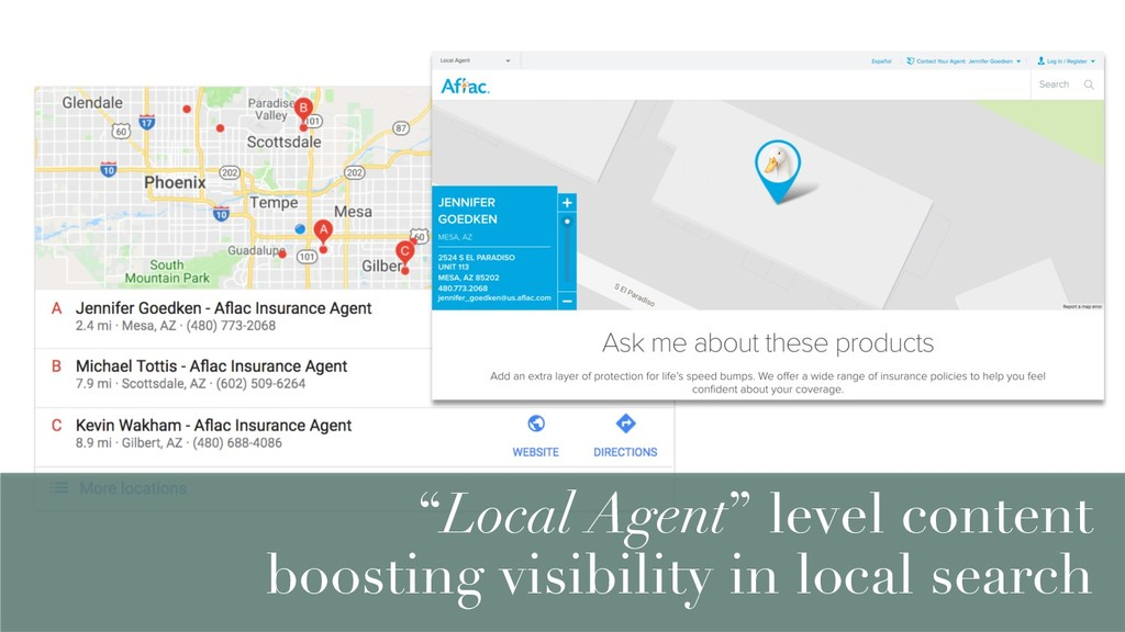 """Local Agent"" level content boosting visibility..."