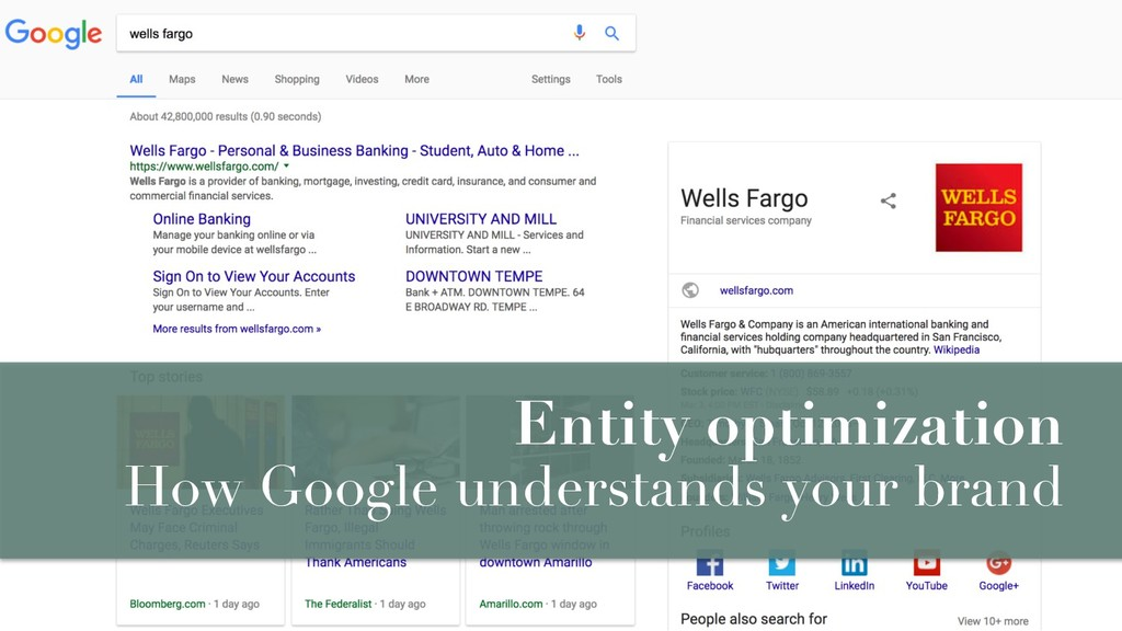 Entity optimization How Google understands your...