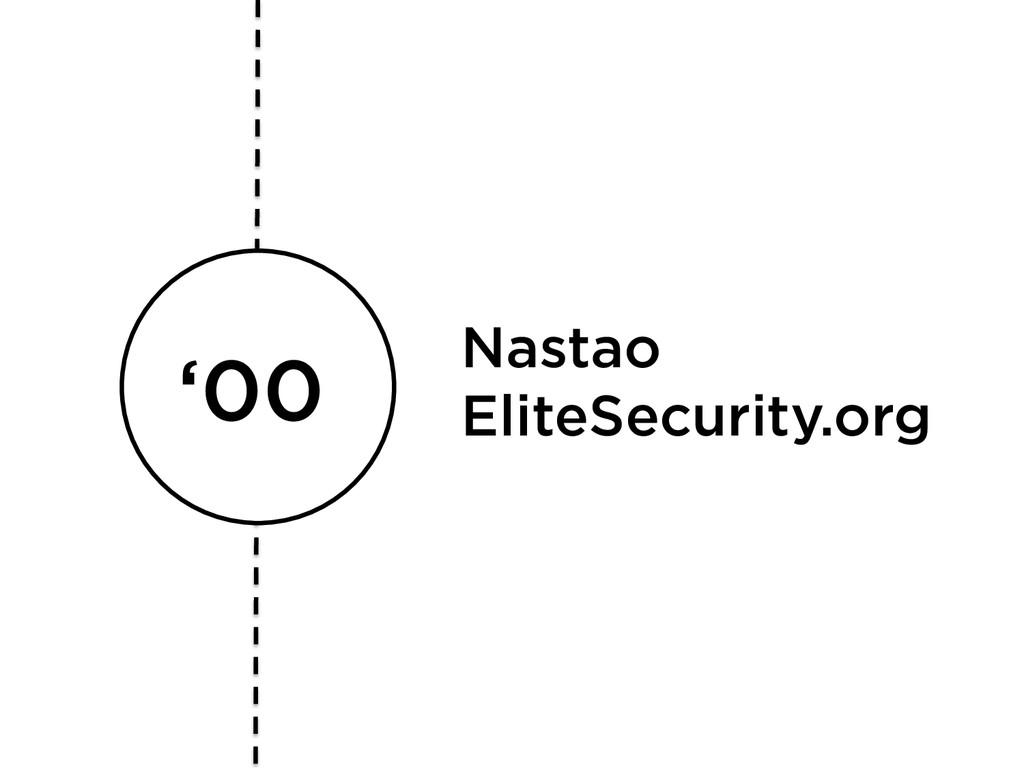 '00 Nastao EliteSecurity.org