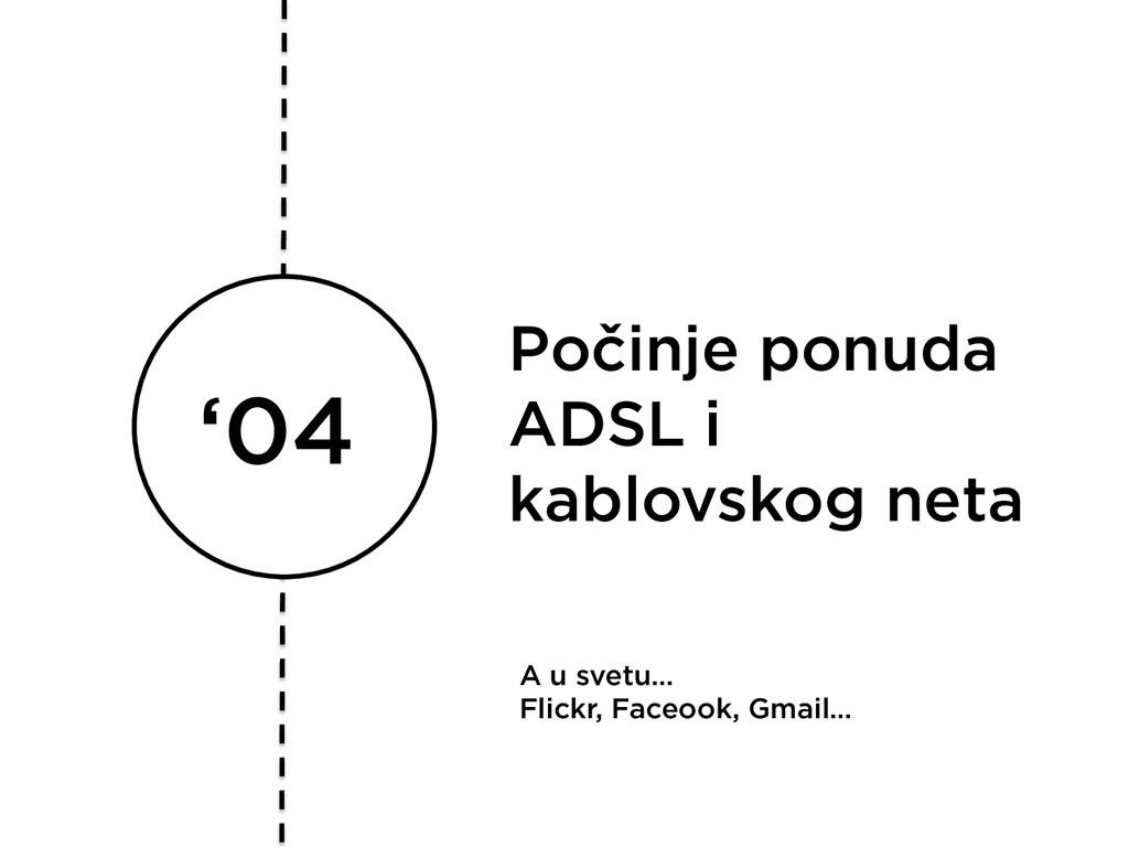 '04 Počinje ponuda ADSL i kablovskog neta A u s...