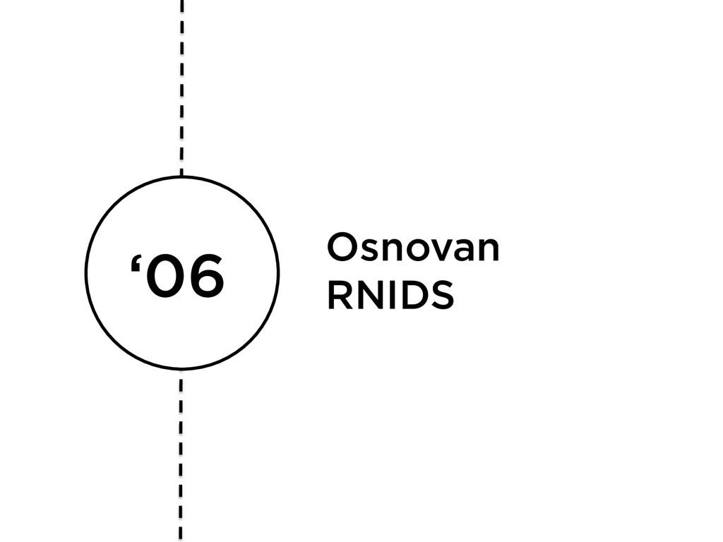 '06 Osnovan RNIDS