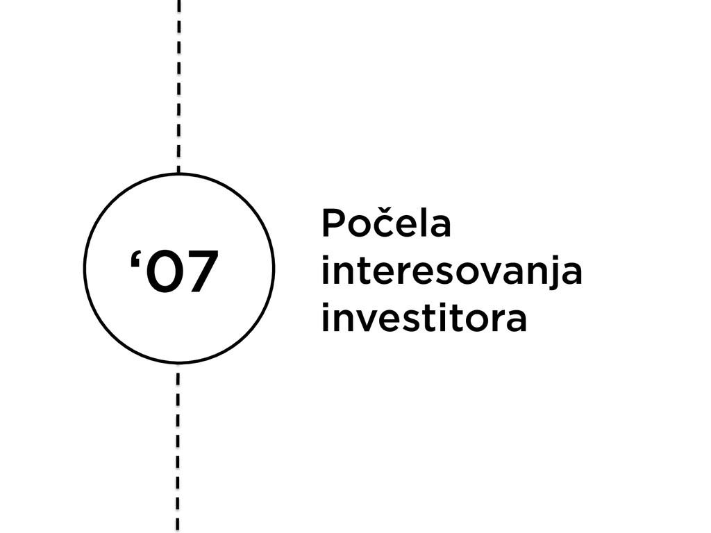 '07 Počela interesovanja investitora