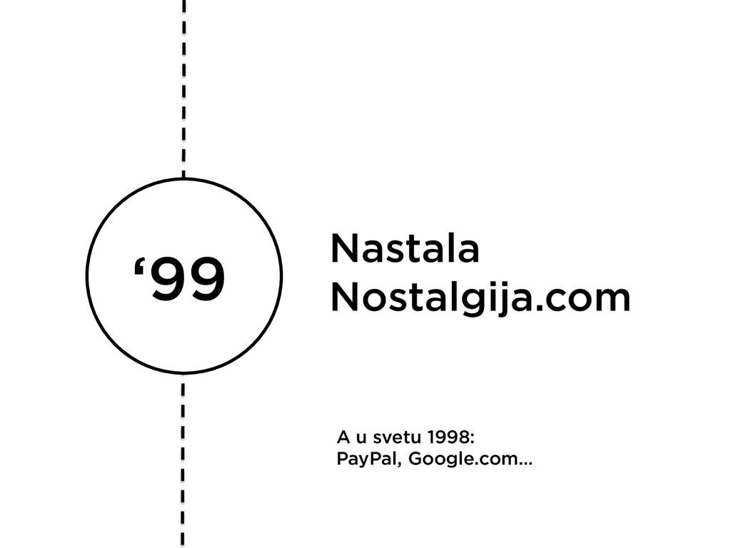 '99 Nastala Nostalgija.com A u svetu 1998: PayP...