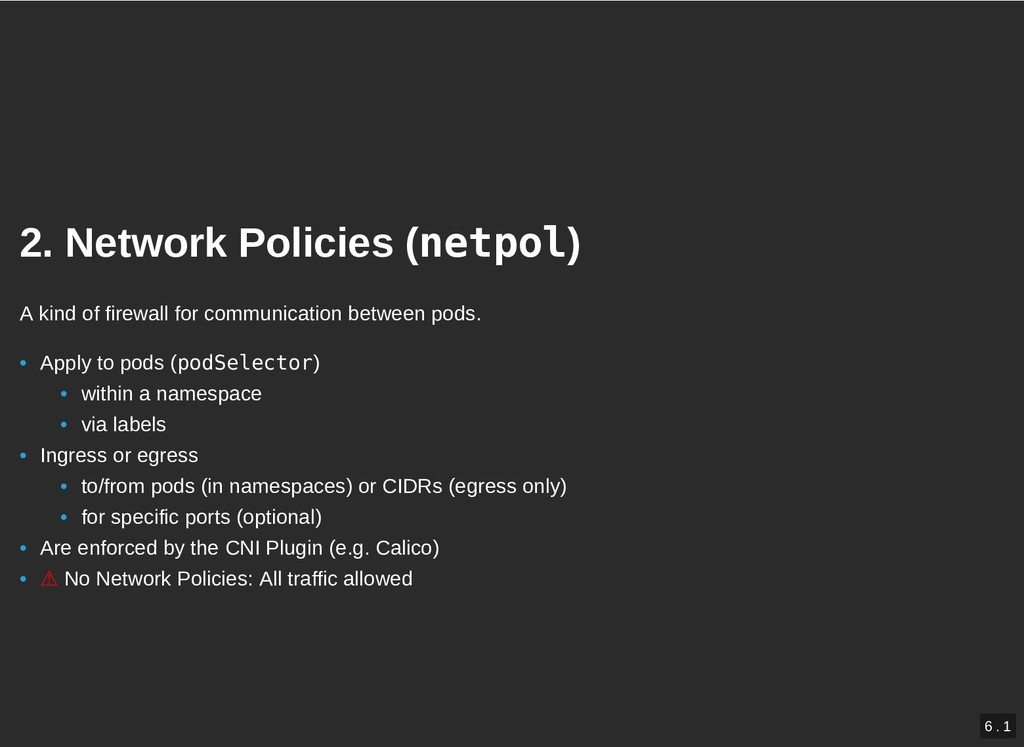 2. Network Policies ( 2. Network Policies (netp...