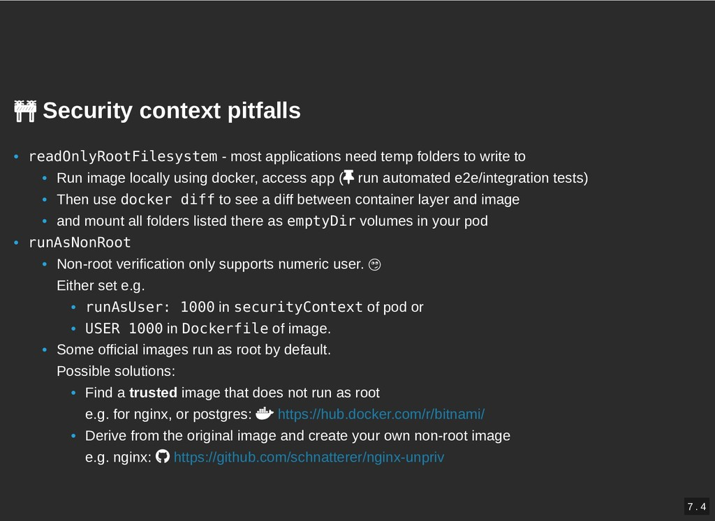Security context pitfalls   Security context ...