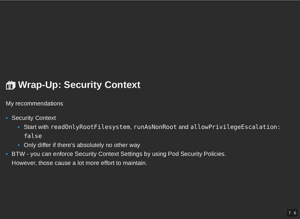 Wrap-Up: Security Context   Wrap-Up: Security...