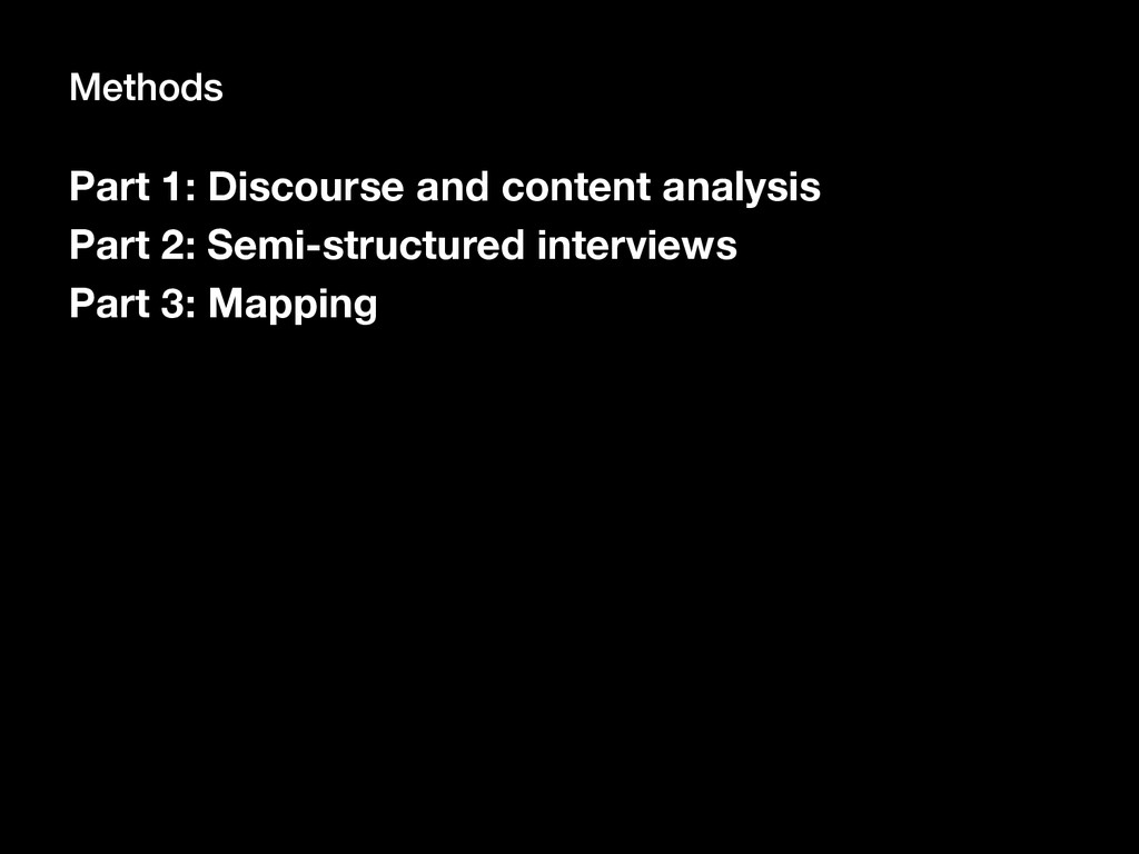 Part 1: Discourse and content analysis
