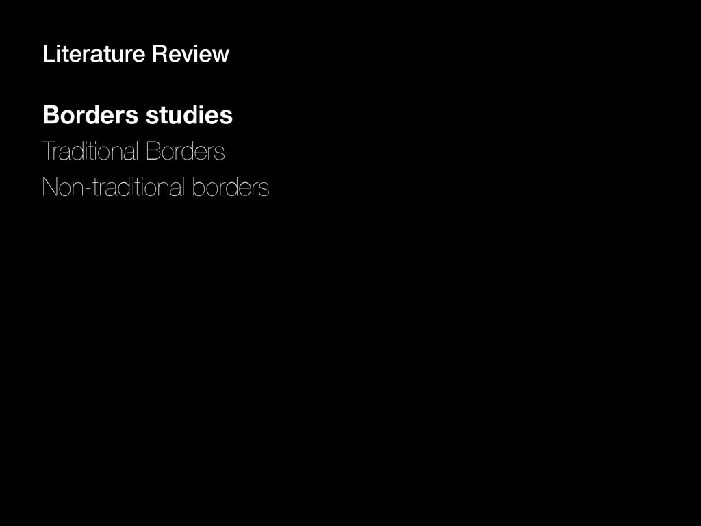 Borders studies