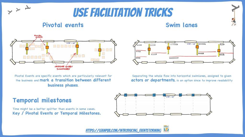 Use facilitation tricks Pivotal Events are spec...