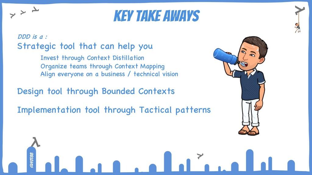@yot88 KEY TAKE AWAYS DDD is a : Strategic tool...