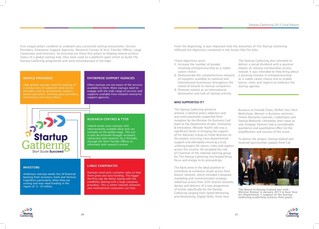 Startup Gathering 2015 Final Report 20 21 Five ...