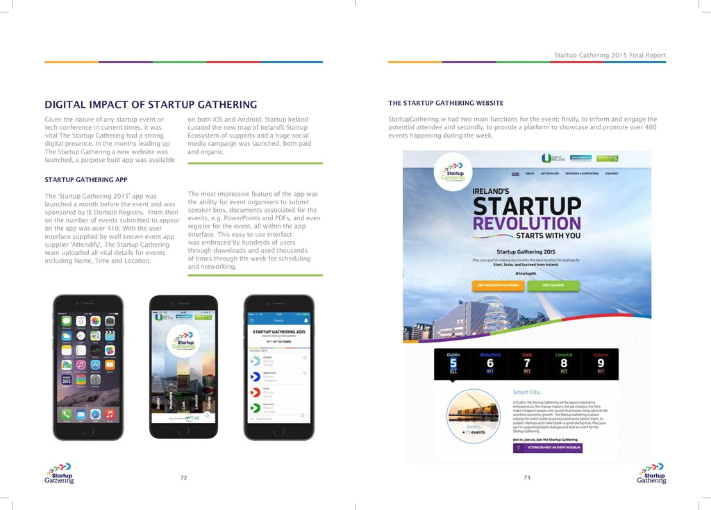 Startup Gathering 2015 Final Report 72 73 THE S...