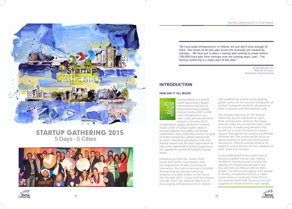 """Startup Gathering 2015 Final Report 18 19 """"We h..."""
