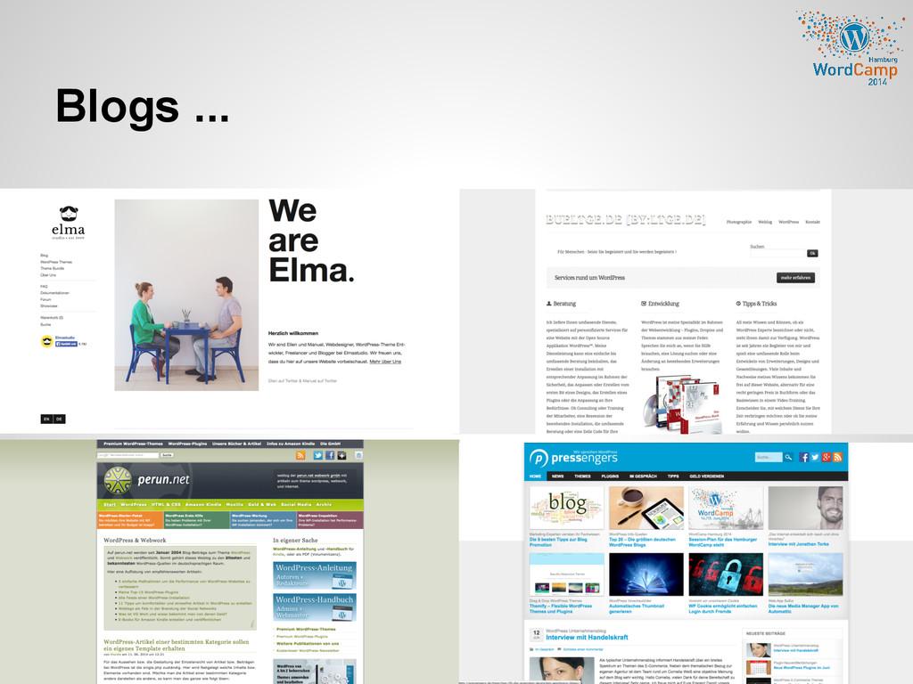 Blogs ...