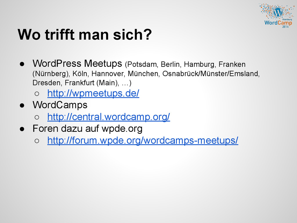 Wo trifft man sich? ● WordPress Meetups (Potsda...