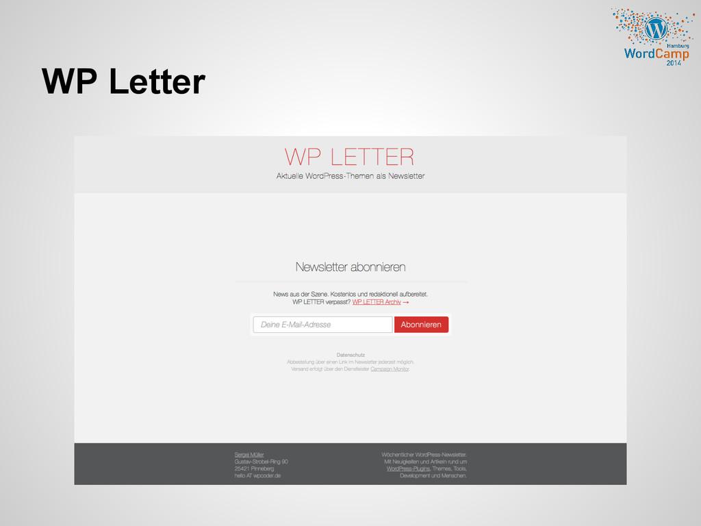 WP Letter