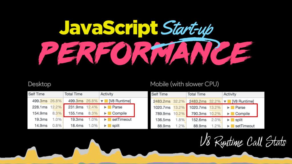PERFORMANCE JavaScript Start-up Start-up o o V8...