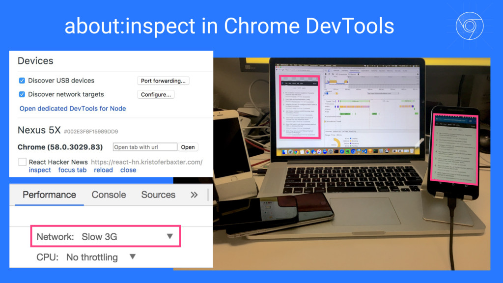 about:inspect in Chrome DevTools