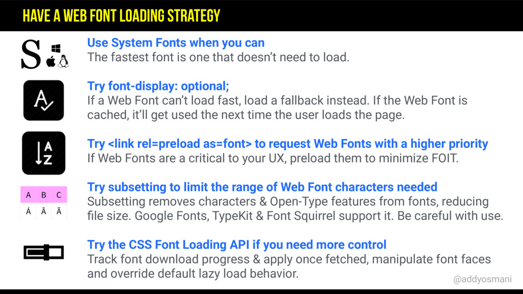 Use System Fonts when you can The fastest font ...