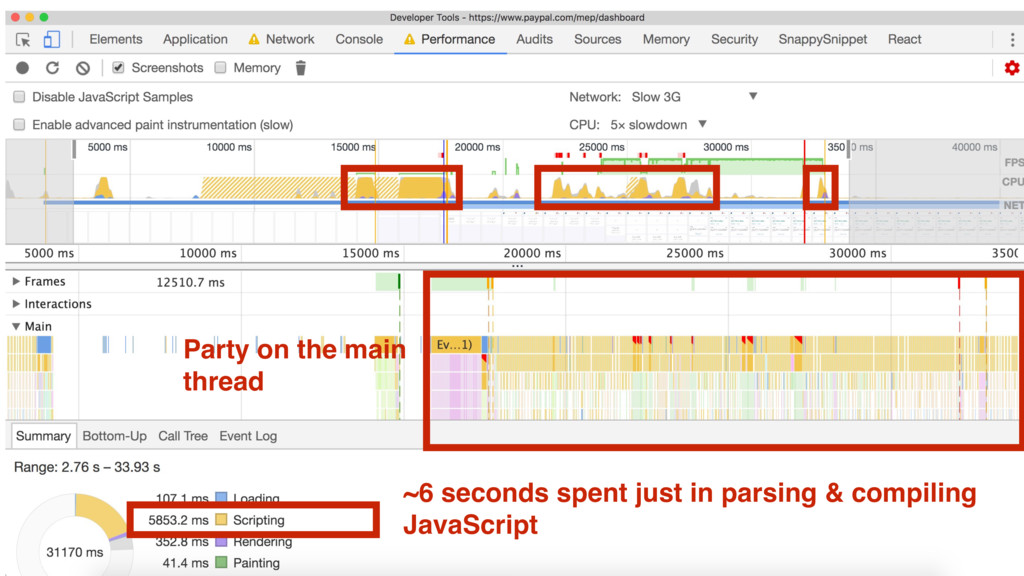 ~6 seconds spent just in parsing & compiling Ja...