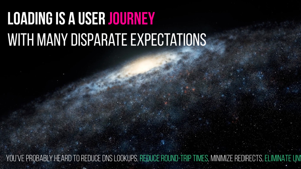 loading is a user journey with many disparate e...