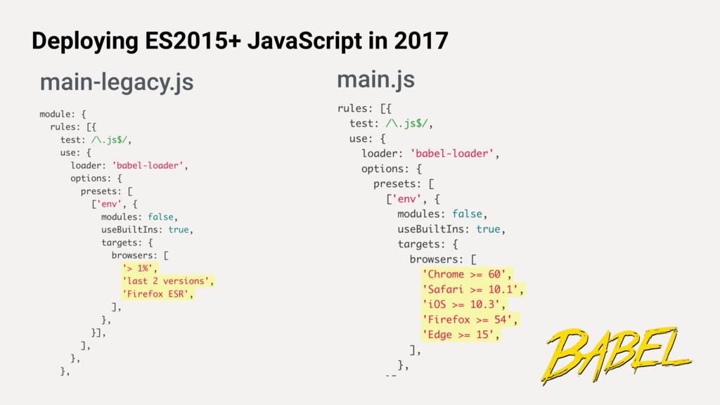 Deploying ES2015+ JavaScript in 2017 main-legac...