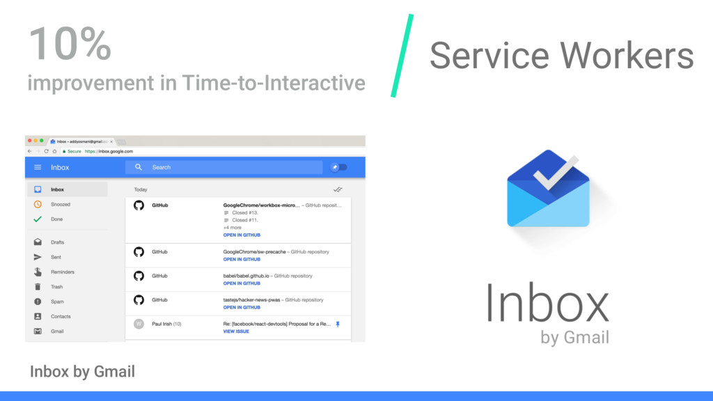 Service Workers Inbox by Gmail 10% improvement ...