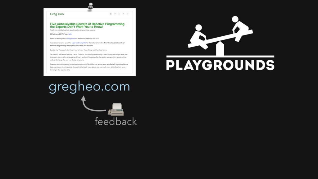 feedback  gregheo.com