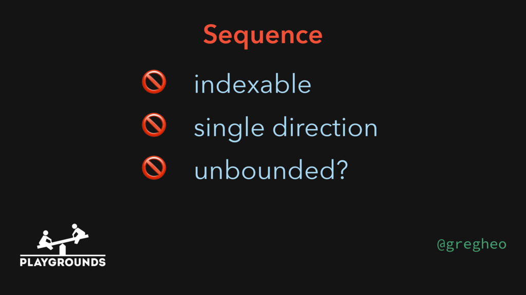 Sequence  indexable  single direction  unbounde...