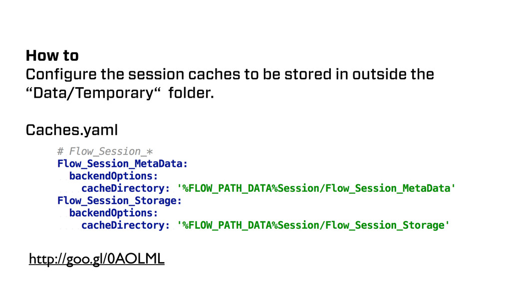 How to Configure the session caches to be stored...