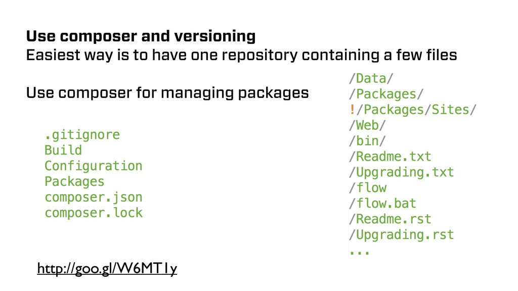 Use composer and versioning Easiest way is to h...