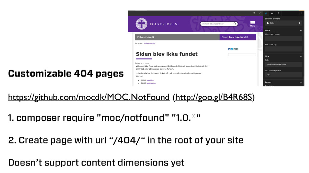 Customizable 404 pages https://github.com/mocdk...
