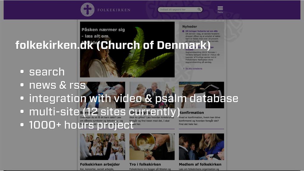 folkekirken.dk (Church of Denmark) • search • n...