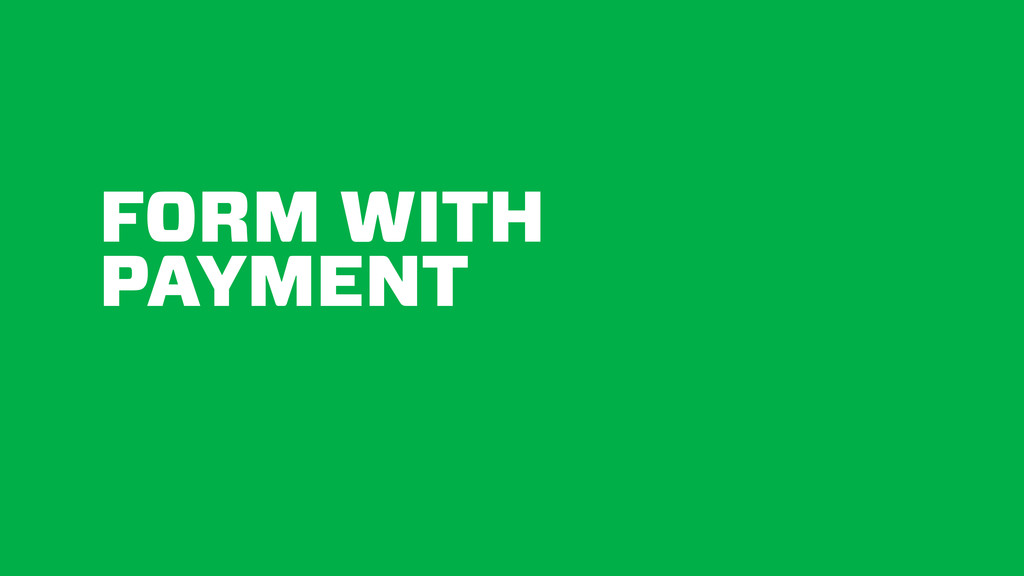 FORM WITH PAYMENT