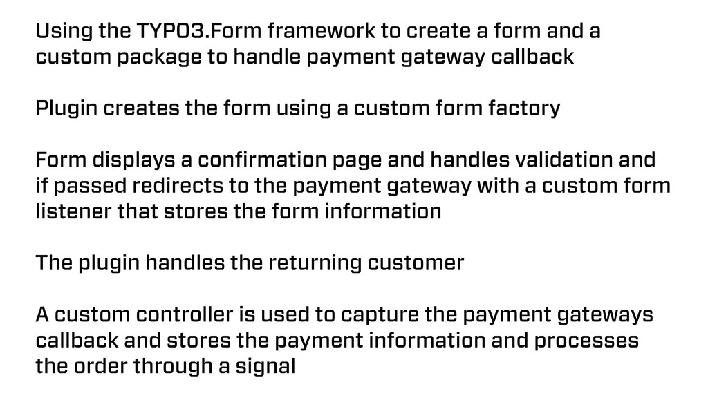Using the TYPO3.Form framework to create a form...