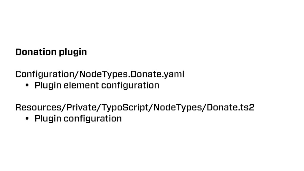 Donation plugin Configuration/NodeTypes.Donate.y...