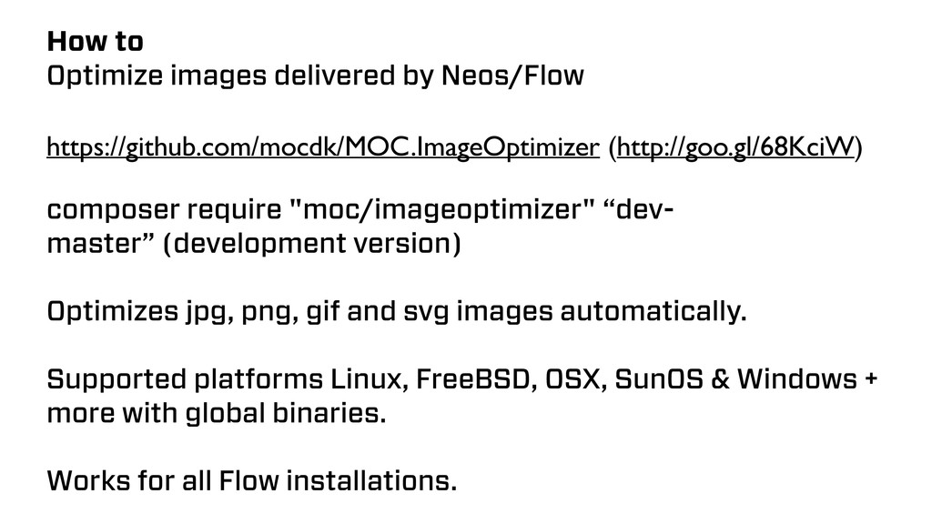 How to Optimize images delivered by Neos/Flow h...