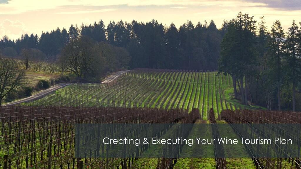 Creating & Executing Your Wine Tourism Plan