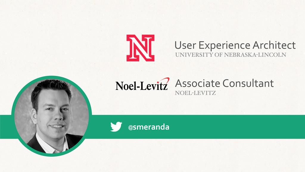 Associate Consultant NOEL-LEVITZ @smeranda U...