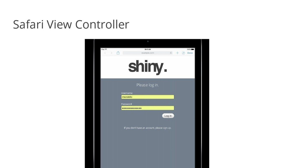 Safari View Controller