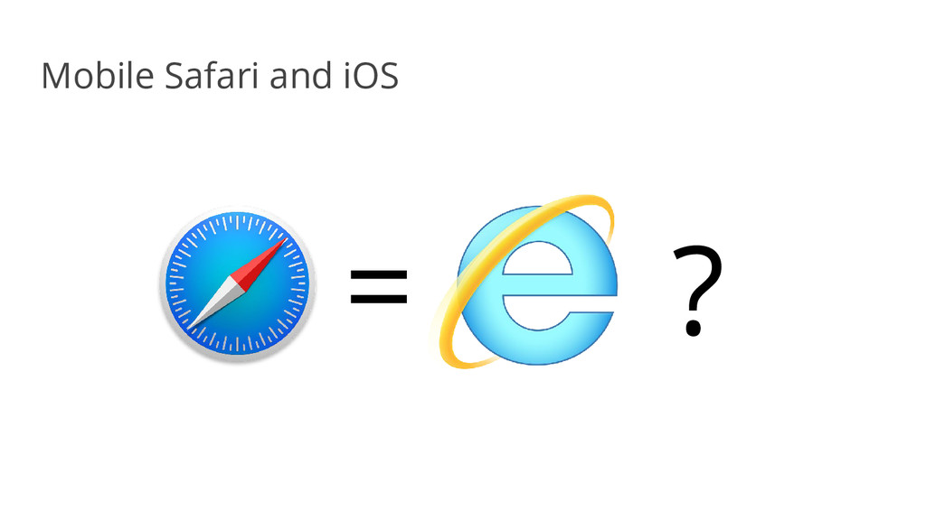 Mobile Safari and iOS = ?