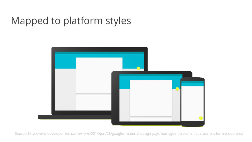 Mapped to platform styles Source: http://www.de...