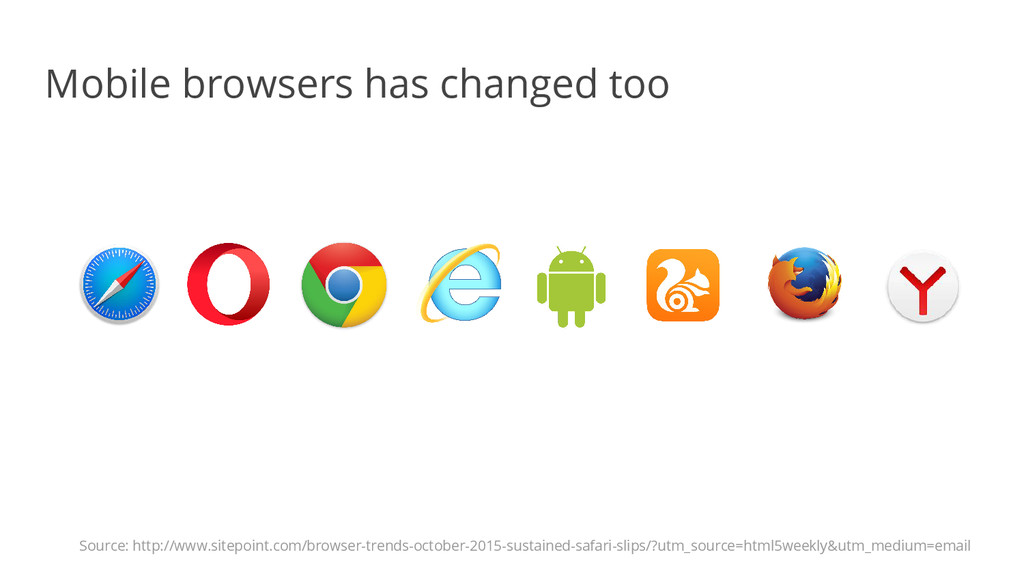 Mobile browsers has changed too Source: http://...